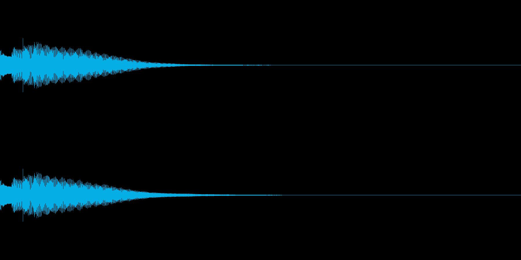 カジノ フリーゲームカウント音(終了音)の再生済みの波形