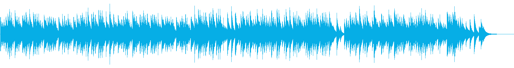 愛の挨拶 72弁オルゴール の再生済みの波形