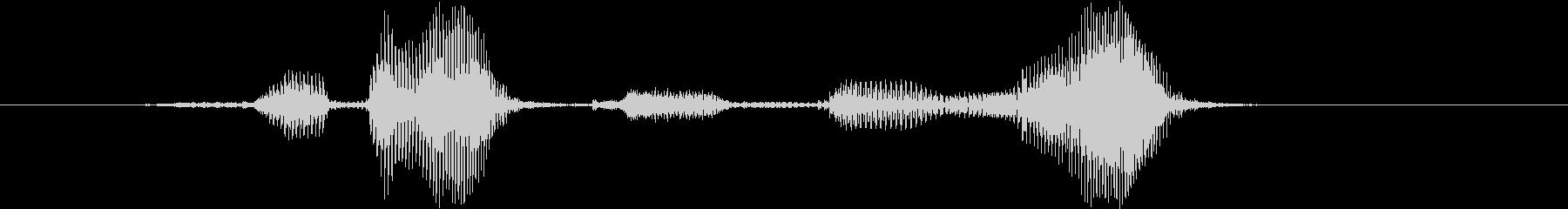 開けゴマの未再生の波形