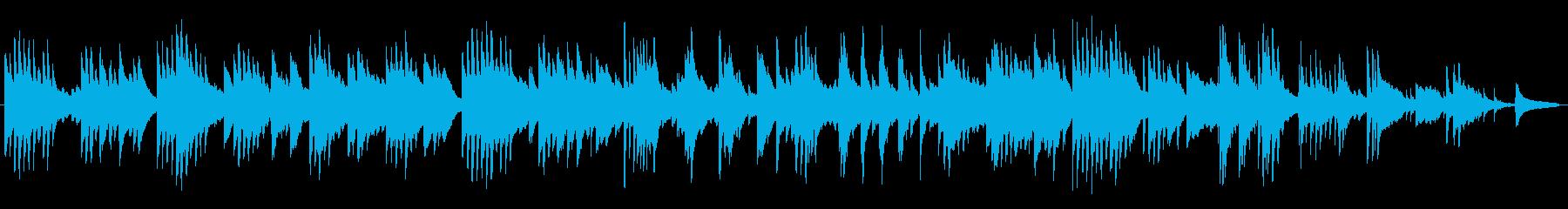 優しい木漏れ日のようなピアノBGMの再生済みの波形