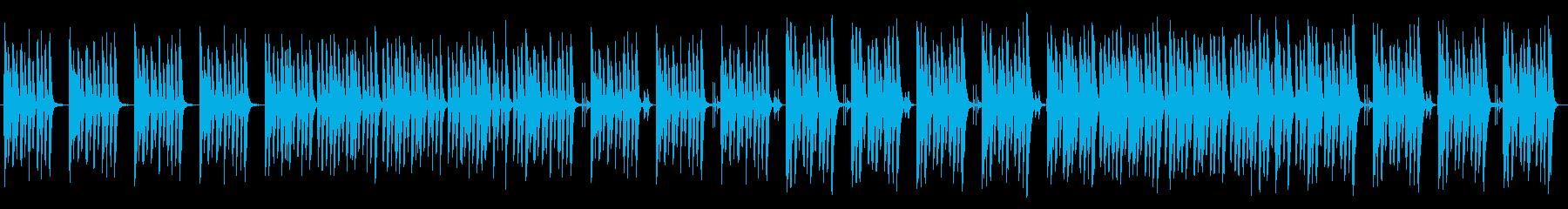可愛らしくコミカルな日常のピアノの再生済みの波形
