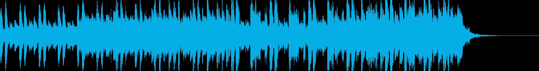 重い雰囲気のシンセサウンド30秒の再生済みの波形