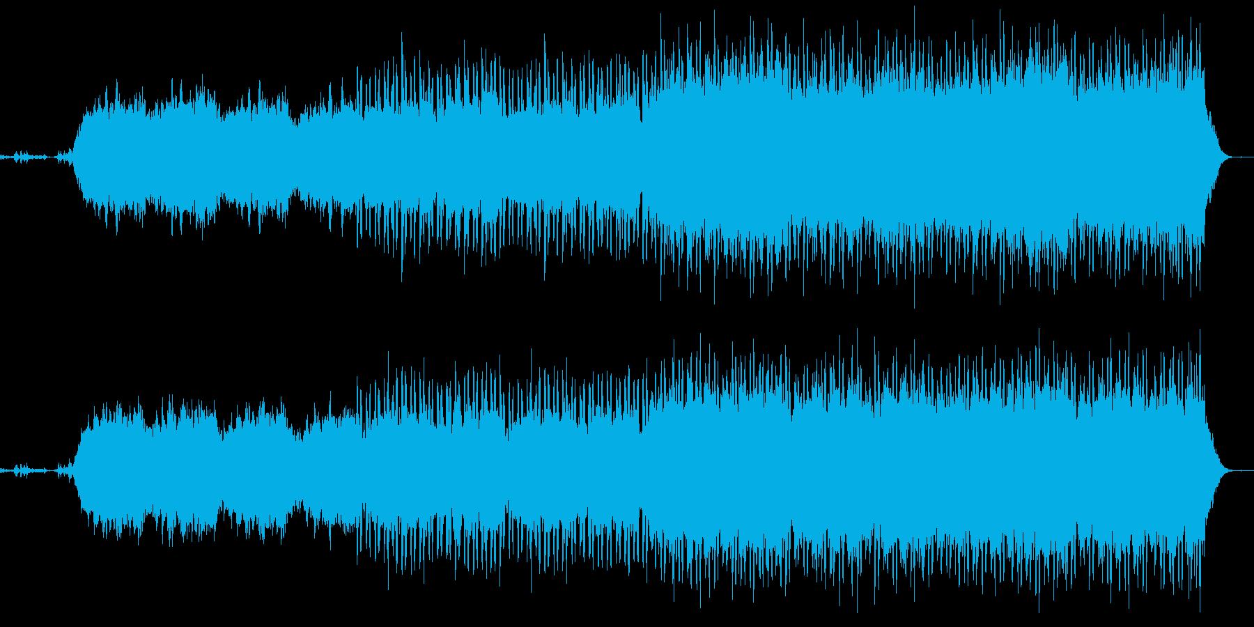 涼しい朝をイメージした幻想的なBGMの再生済みの波形