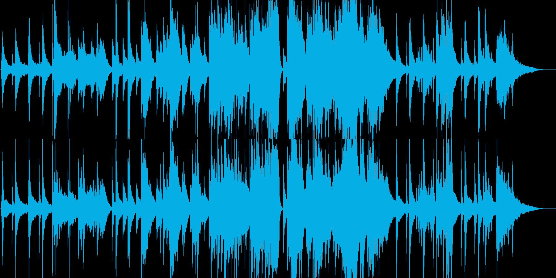 穏やかな寝顔にピアノ&ストリングス曲の再生済みの波形