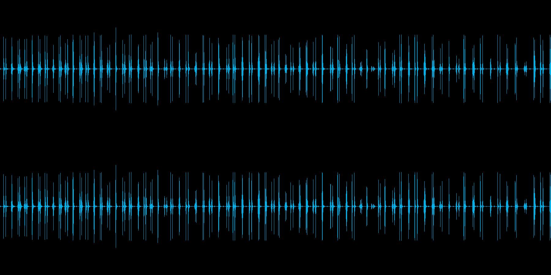 カタカタ震える(怖がる演出に)の再生済みの波形