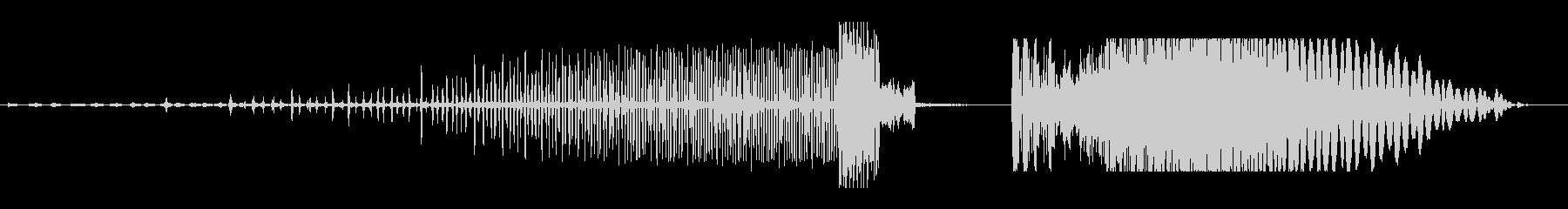 溜めビーム(ビビビビ カオッドゥン)の未再生の波形