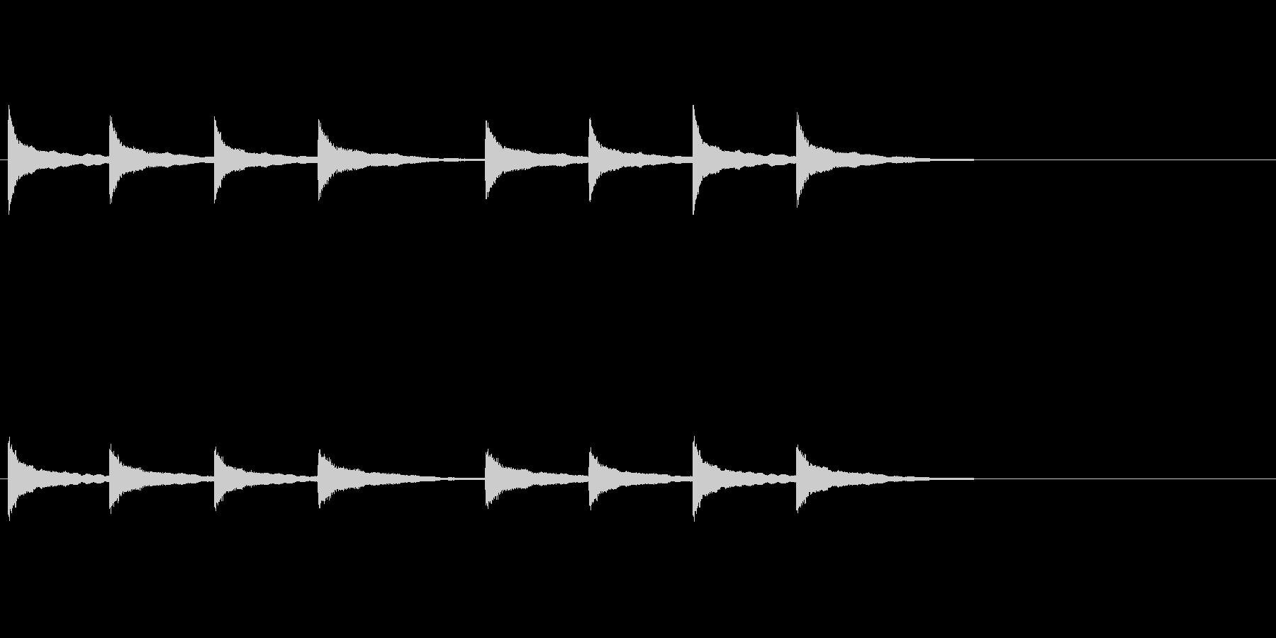 マントル時計鳴りの未再生の波形