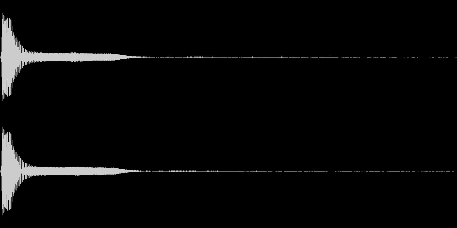 Count カウントダウン 単発音 4の未再生の波形