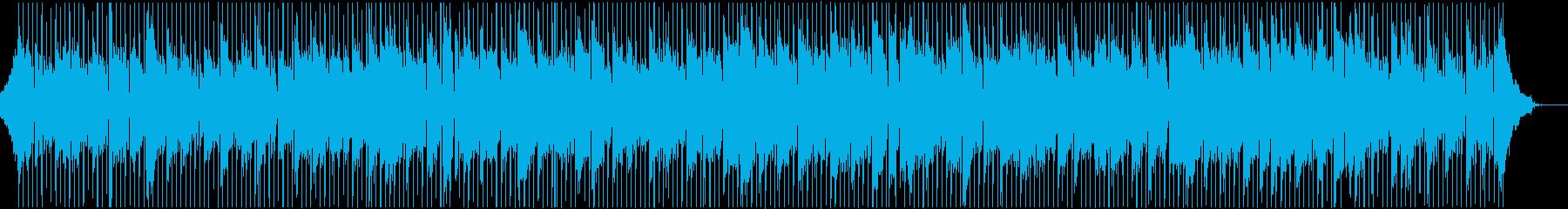 爽やかで明るいアップテンポ楽曲、リフ無しの再生済みの波形