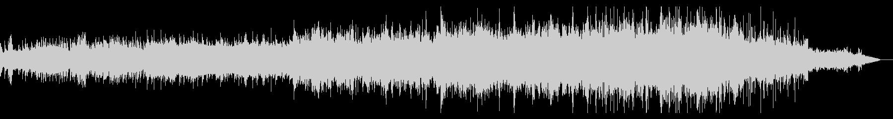 ノイジーでシネマティックなBGMの未再生の波形