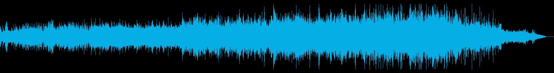 ノイジーでシネマティックなBGMの再生済みの波形