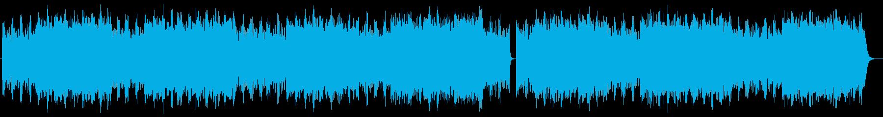 ミステリアスな雰囲気のシンセリフ楽曲の再生済みの波形