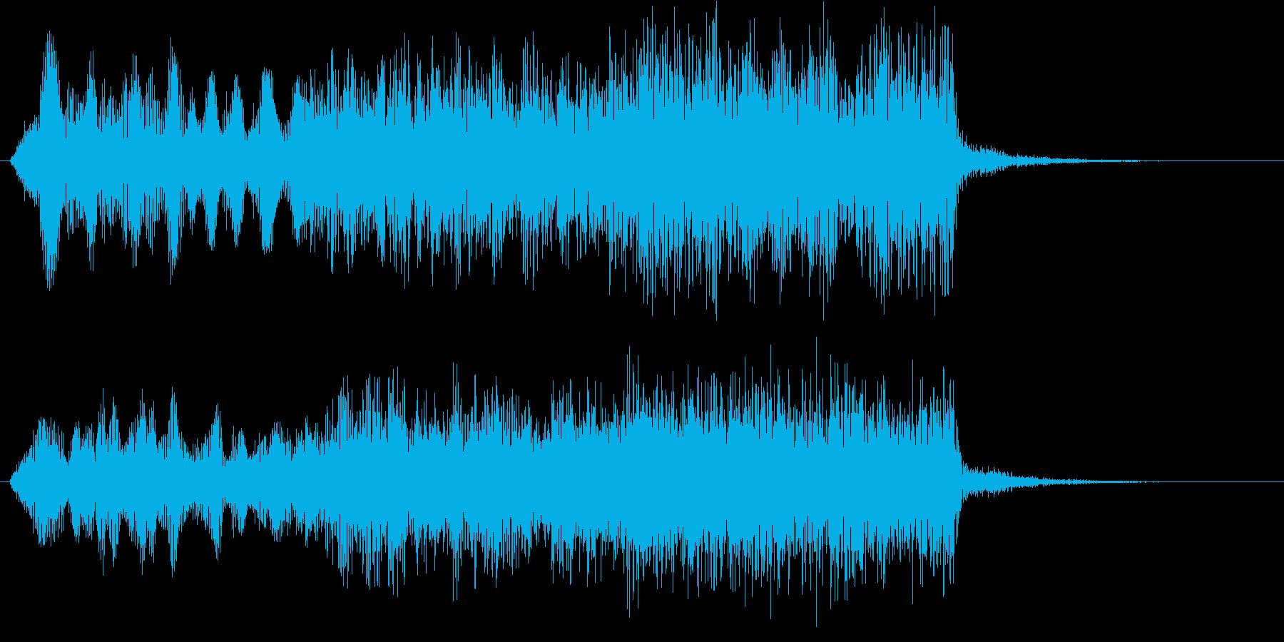 サスペンストリル(ちょい長)の再生済みの波形