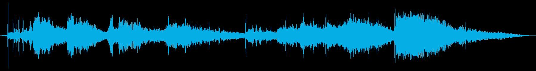 宇宙の生き物の再生済みの波形