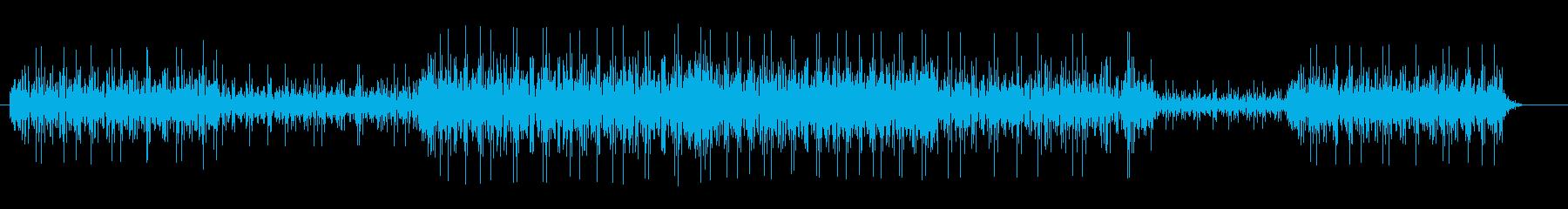 水の流れる音 効果音の再生済みの波形