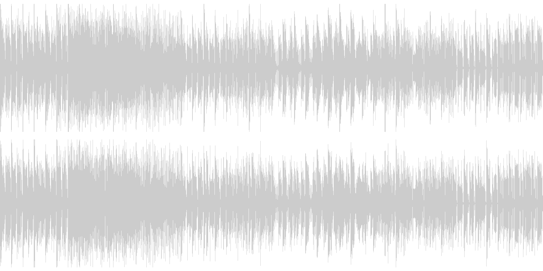 ローファイなビートのチップチューンの未再生の波形