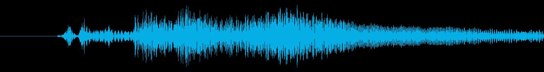 メニュー画面などのキャンセル音の再生済みの波形