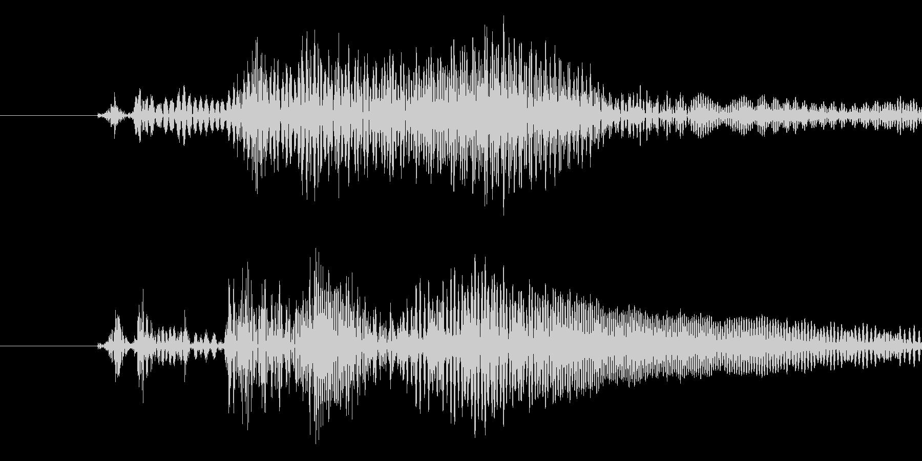 メニュー画面などのキャンセル音の未再生の波形