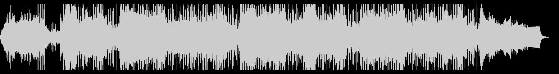 ミステリアスな風景のテクスチャIDMの未再生の波形
