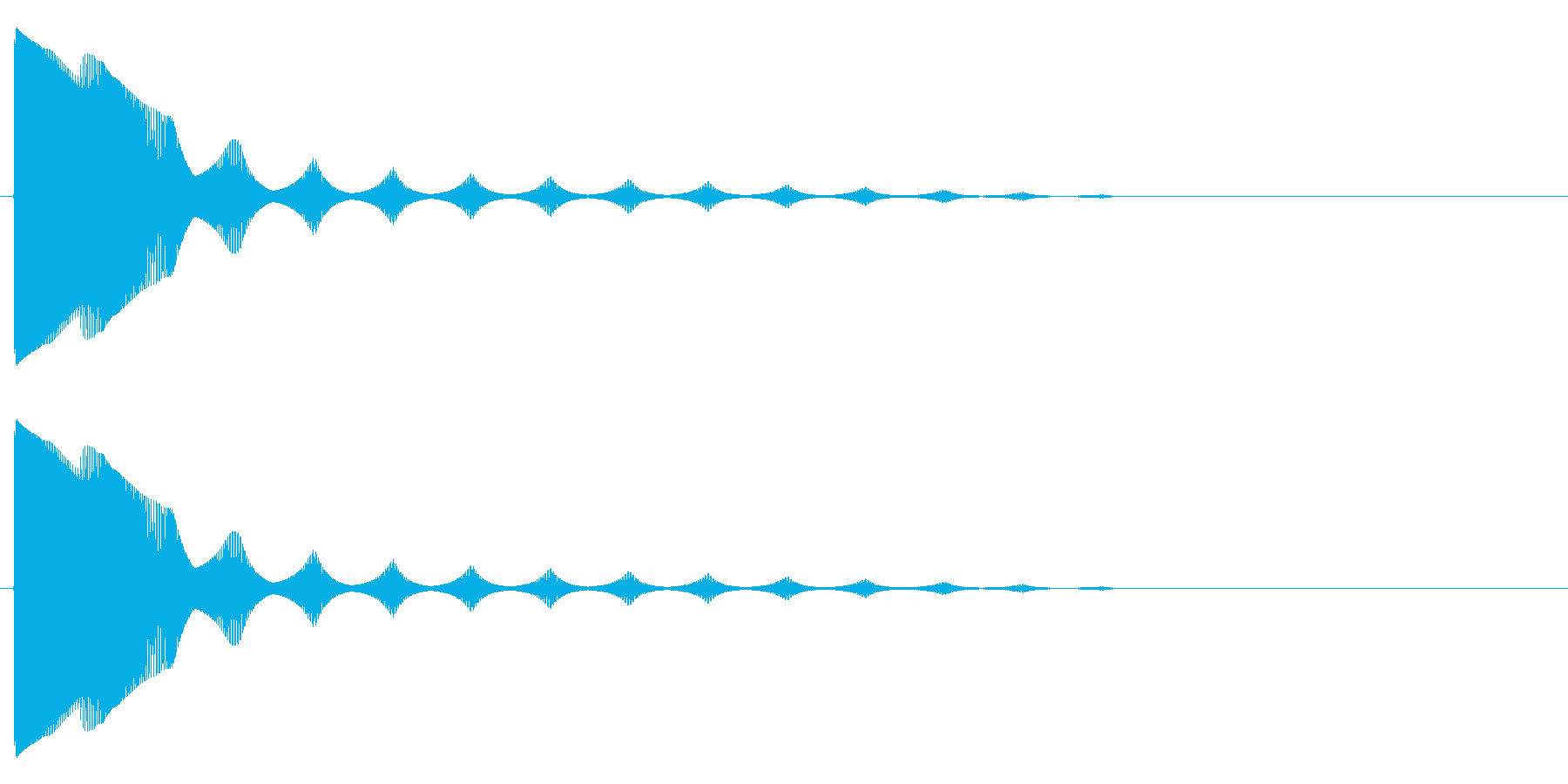 ボヨン~の再生済みの波形