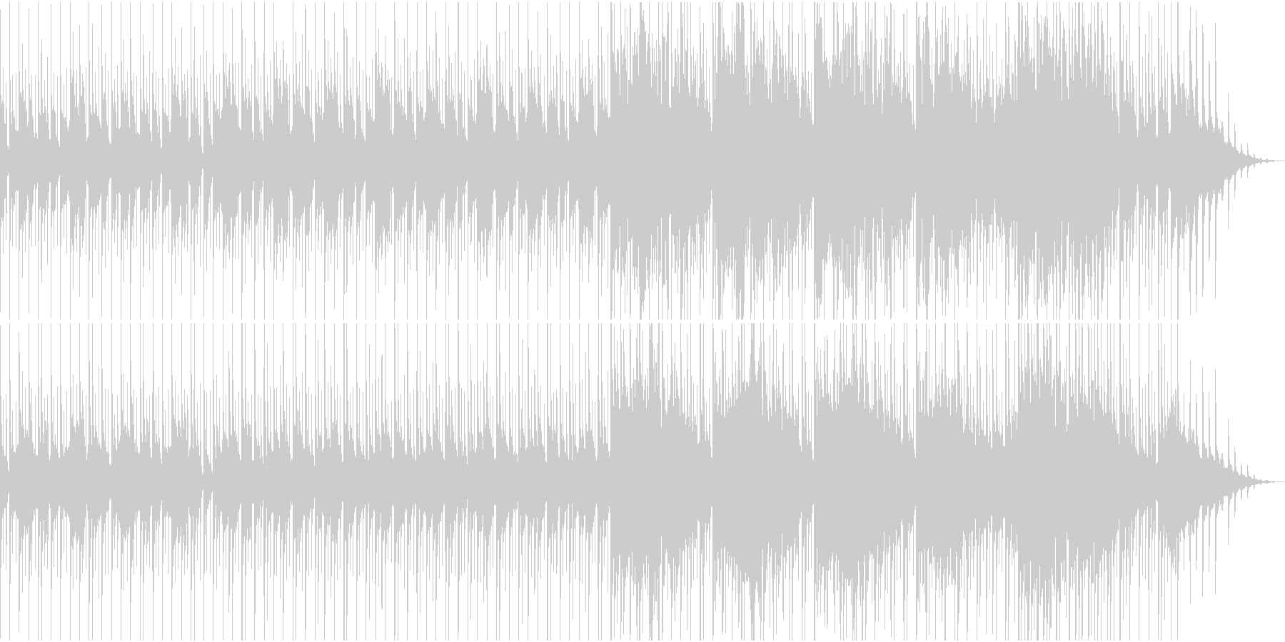 物悲しい雰囲気のスローテンポ和風曲の未再生の波形