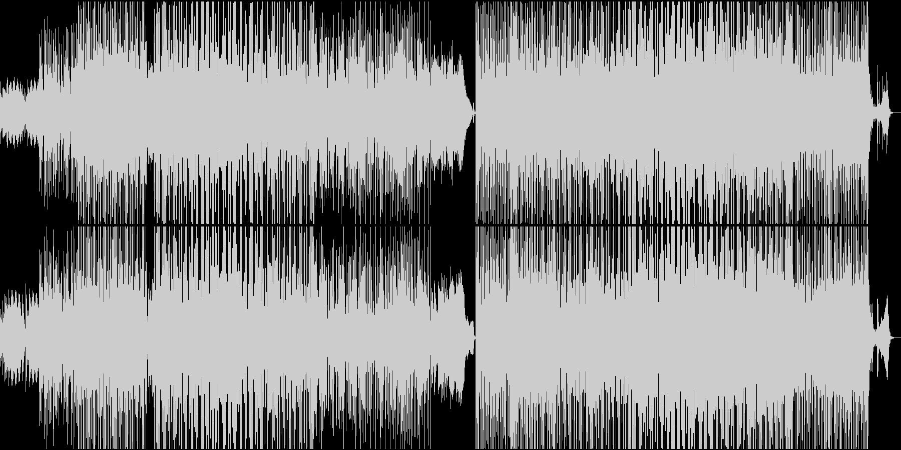 ビデオゲームスタイルのサウンドトラックの未再生の波形