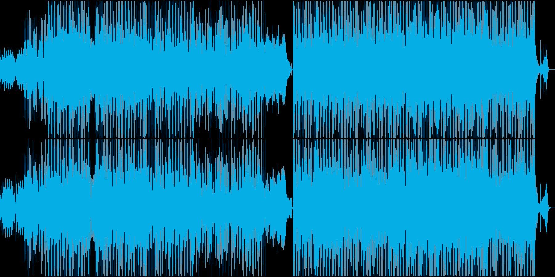 ビデオゲームスタイルのサウンドトラックの再生済みの波形