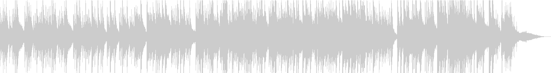 おだやかなピアノシンセBGMの未再生の波形