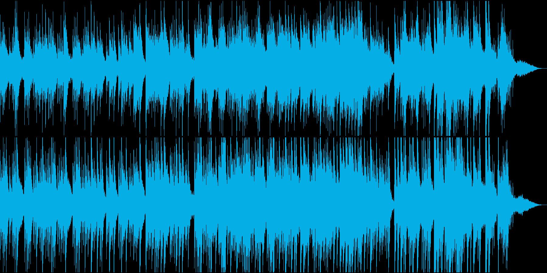 おだやかなピアノシンセBGMの再生済みの波形