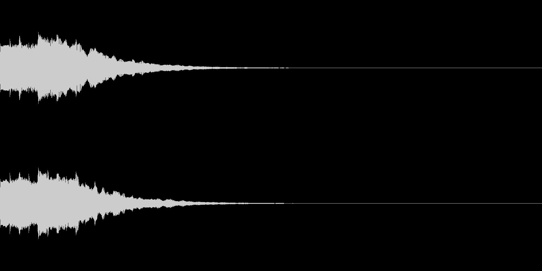 ピロロロロン 決定スタートボタンクリックの未再生の波形