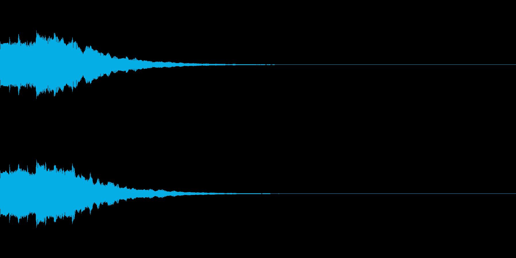 ピロロロロン 決定スタートボタンクリックの再生済みの波形