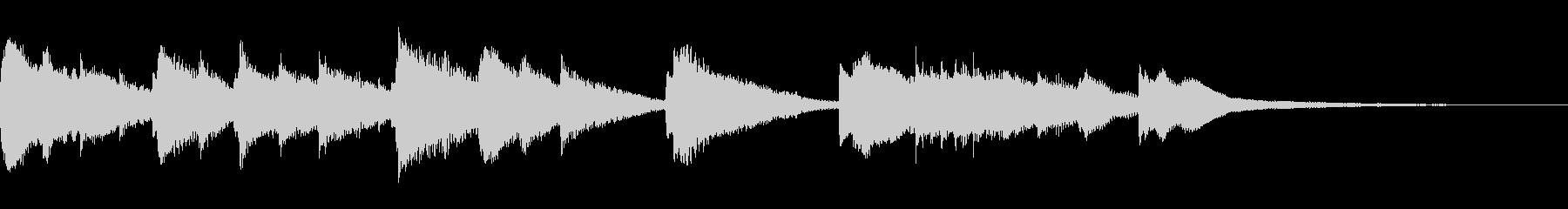 箏とピアノの和風ジングル エンディング感の未再生の波形