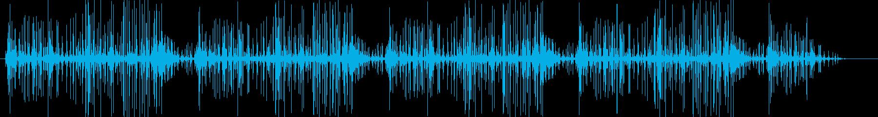 ブチブチ(火の音、ノイズ)の再生済みの波形