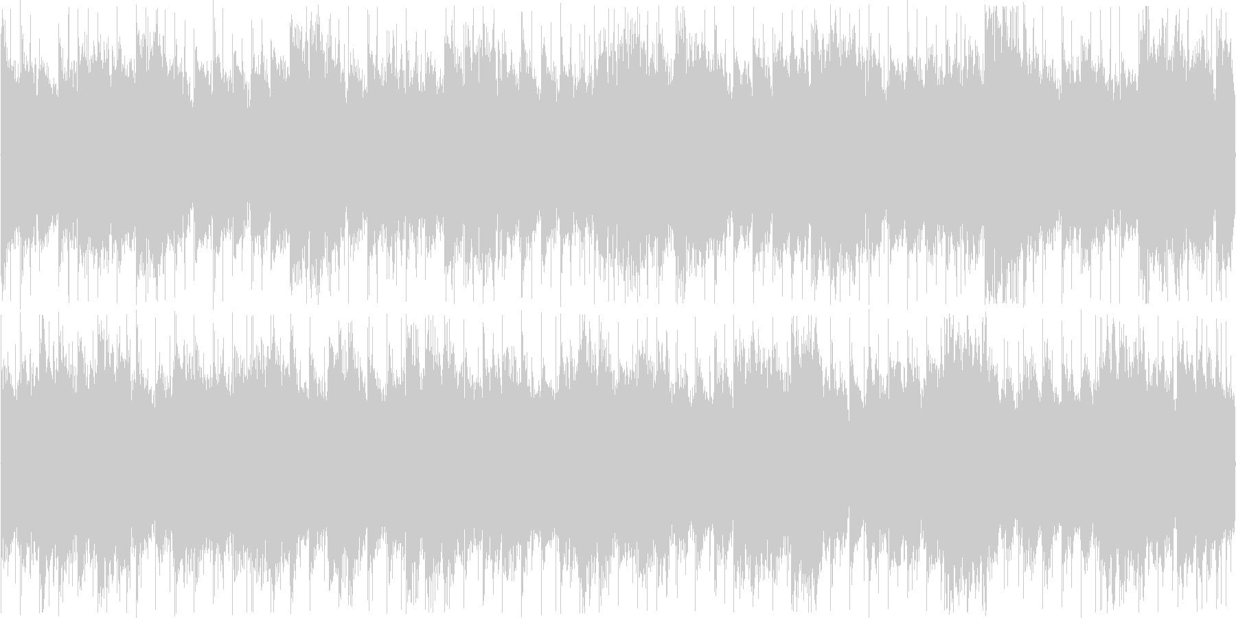 浮遊感のある近未来的な雰囲気のBGMの未再生の波形