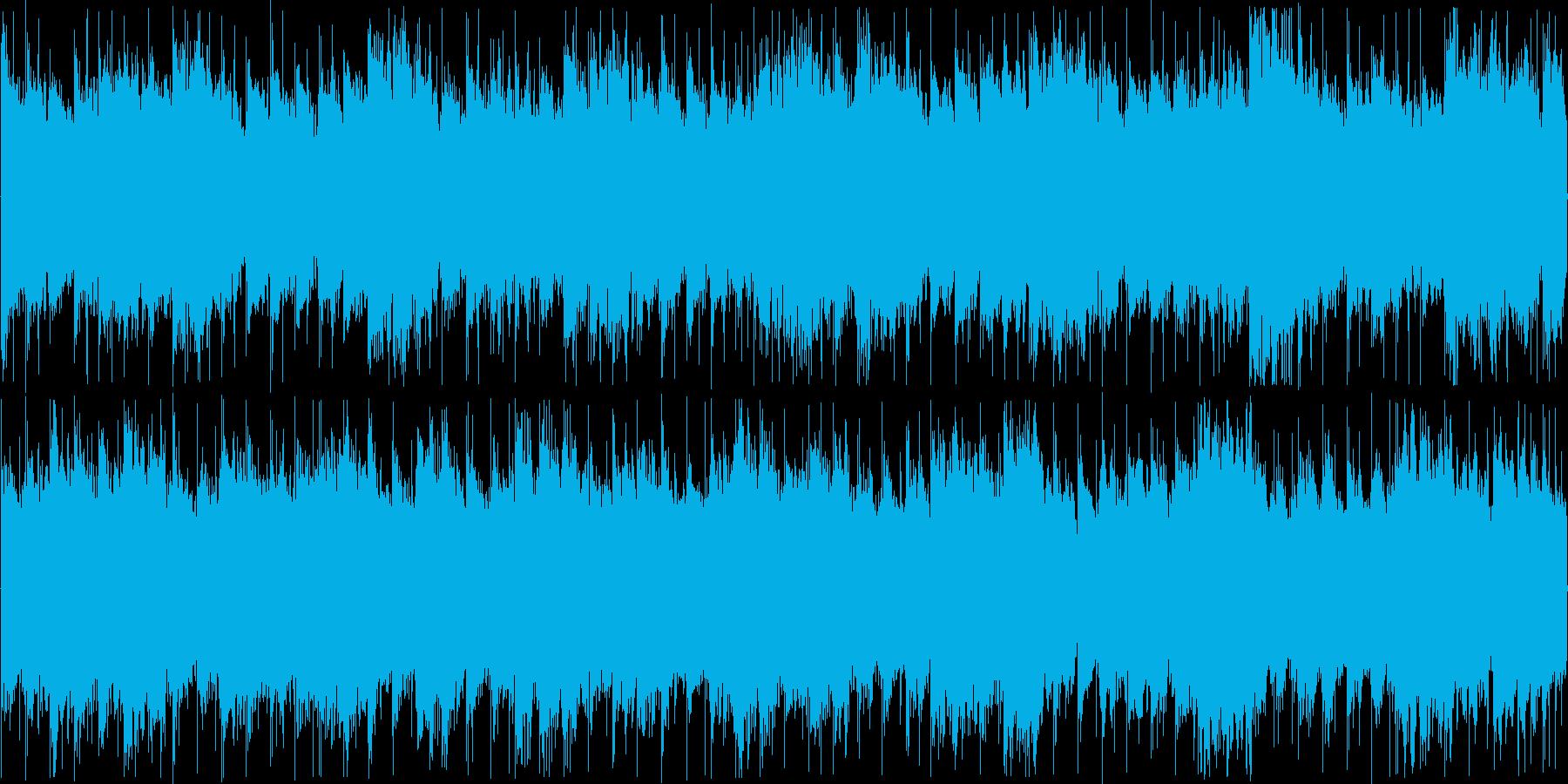 浮遊感のある近未来的な雰囲気のBGMの再生済みの波形