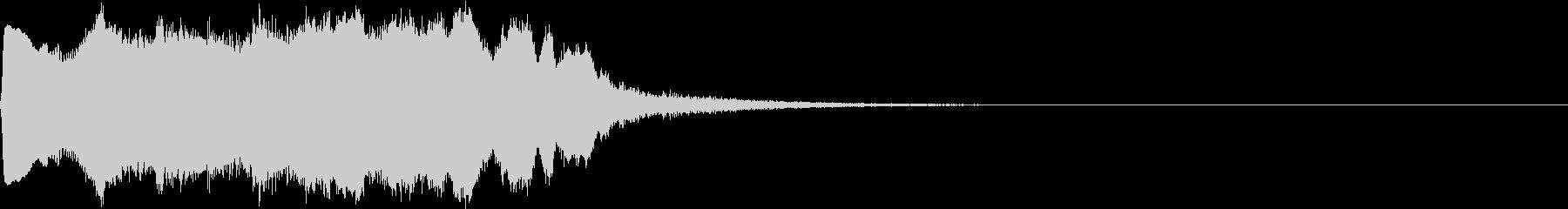 SE ポワーン クイズ出題前 上昇音 7の未再生の波形