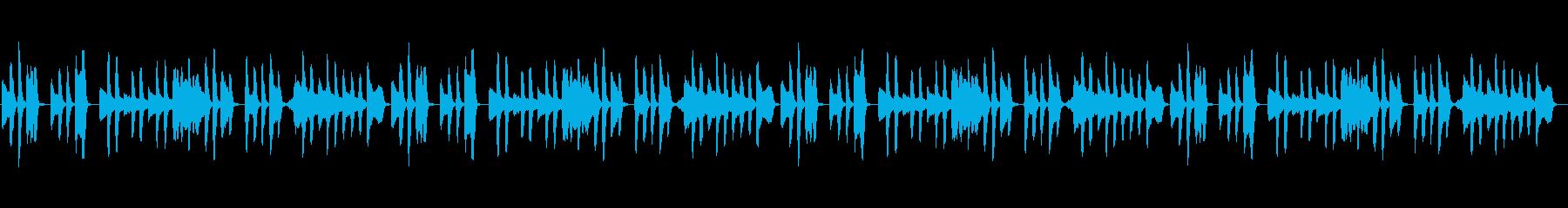 日常、平凡、素朴を演出した曲の再生済みの波形