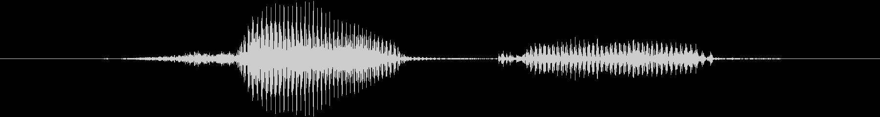 正解の未再生の波形