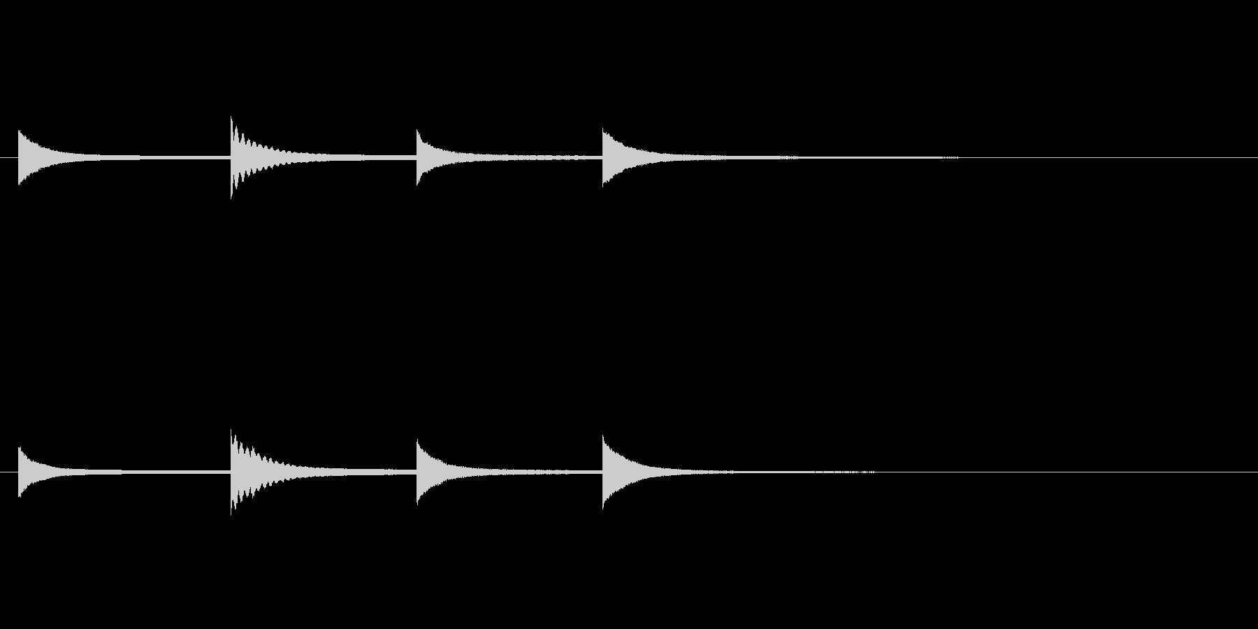 「キンコンカンコン」(高めの鐘)の未再生の波形