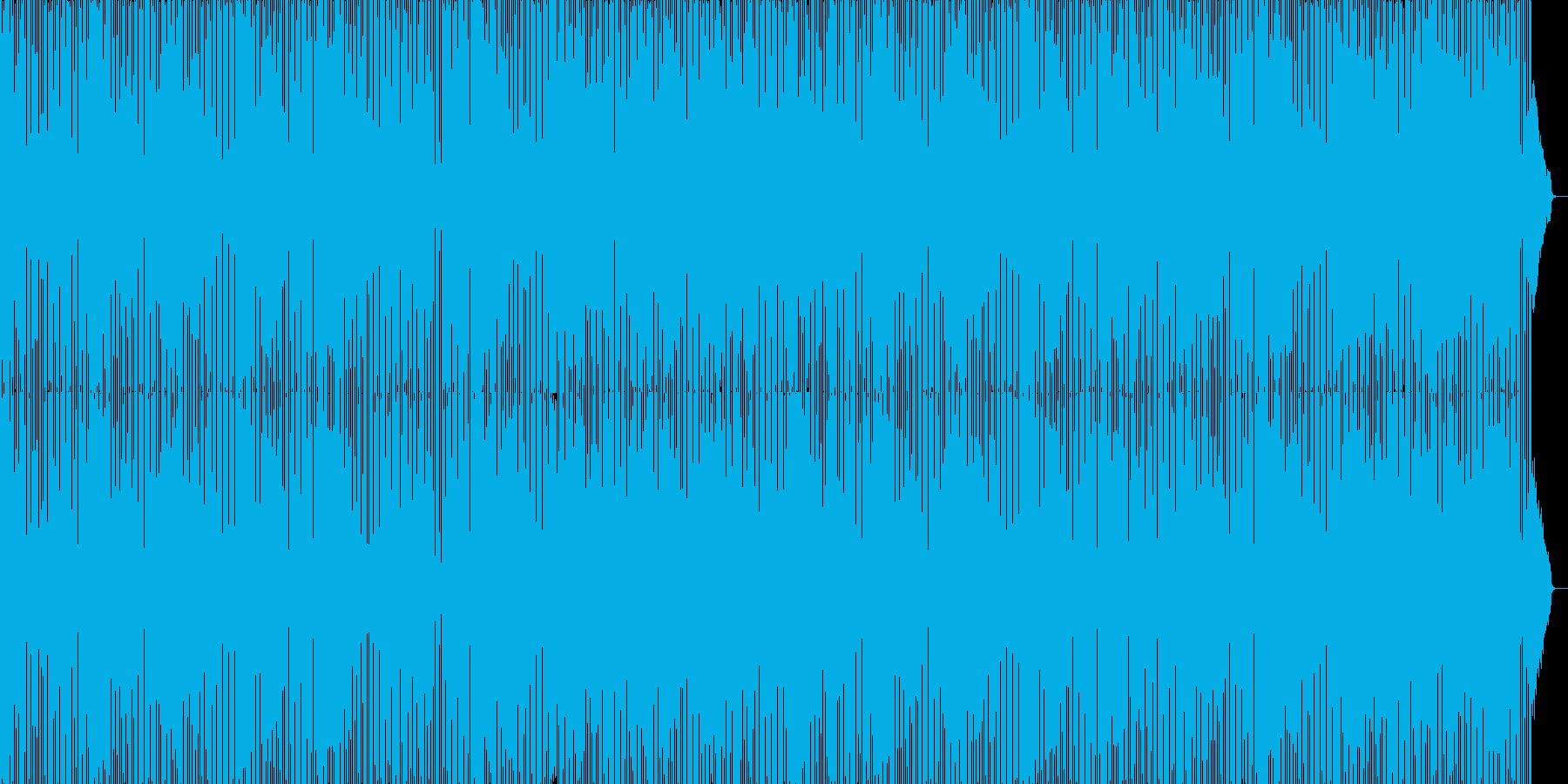 お洒落で軽快なエレクトロミュージックの再生済みの波形