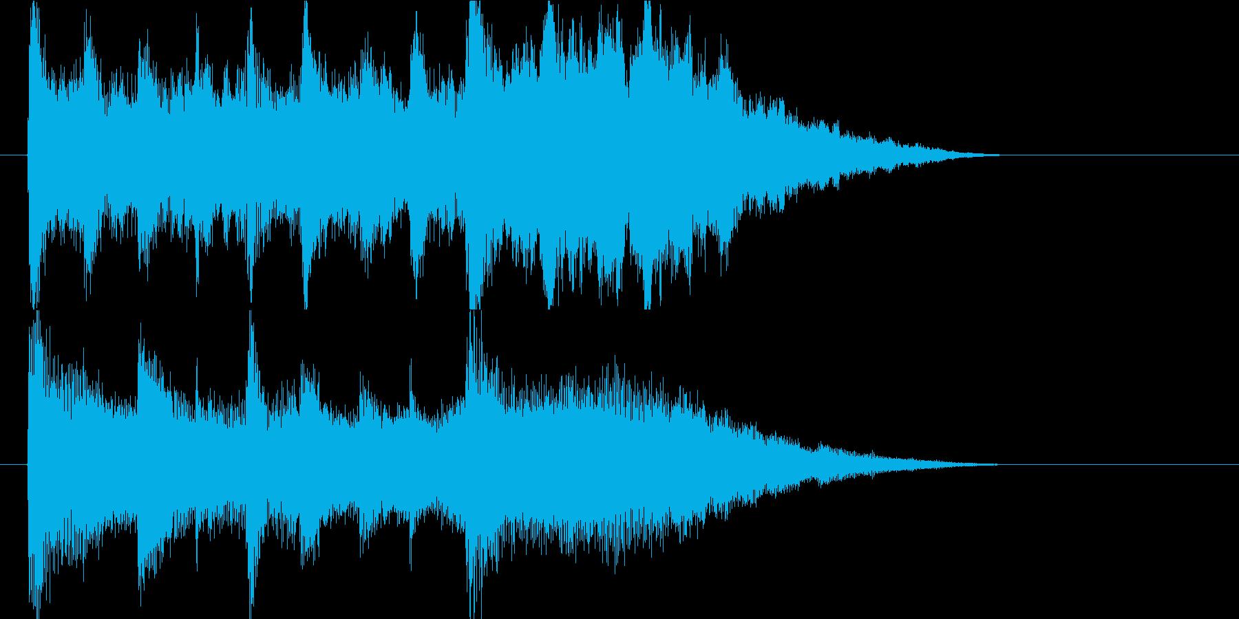 宿泊の音楽 休息 回復 ゲーム・動画用の再生済みの波形