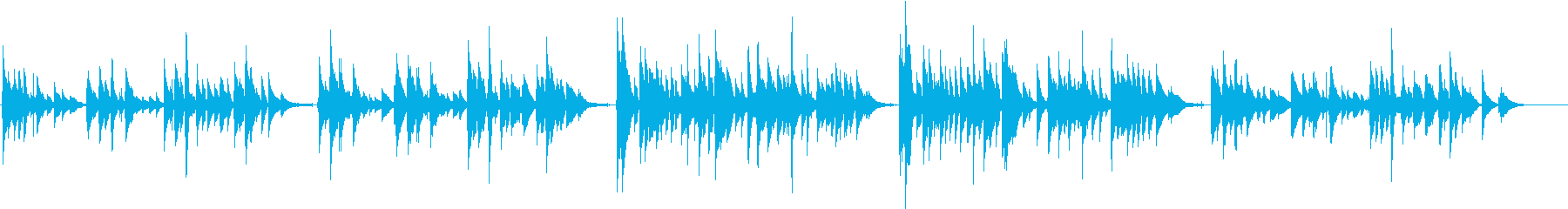 涙 クラシックギター定番曲の再生済みの波形