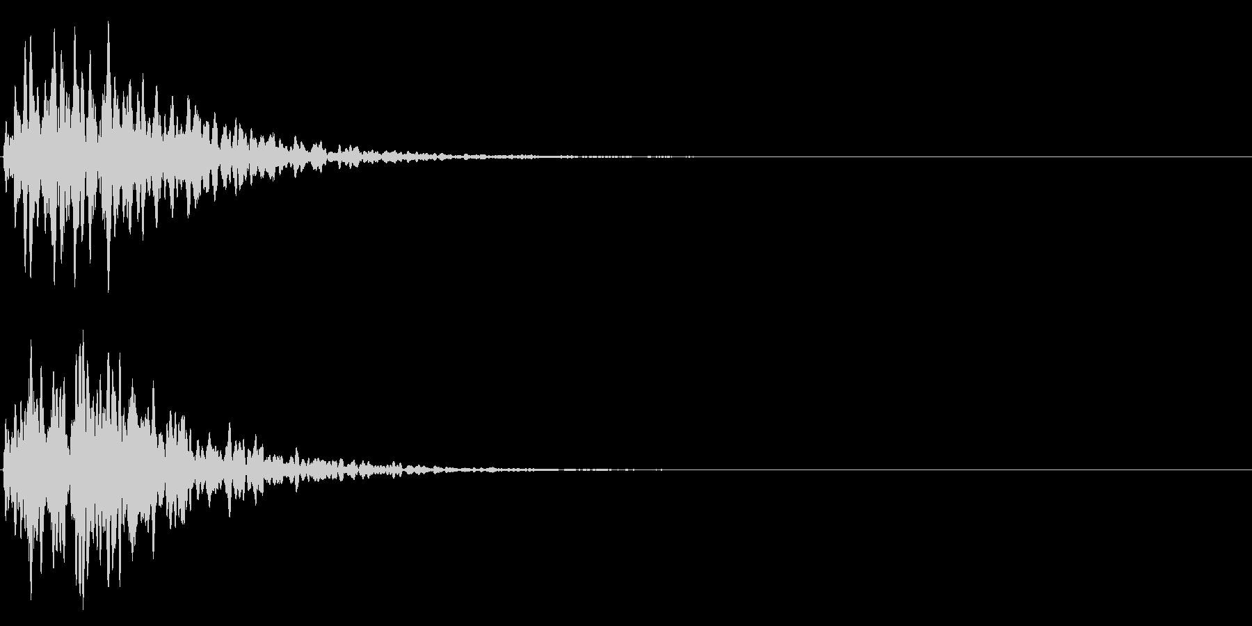 ゲームスタート、決定、ボタン音-073の未再生の波形