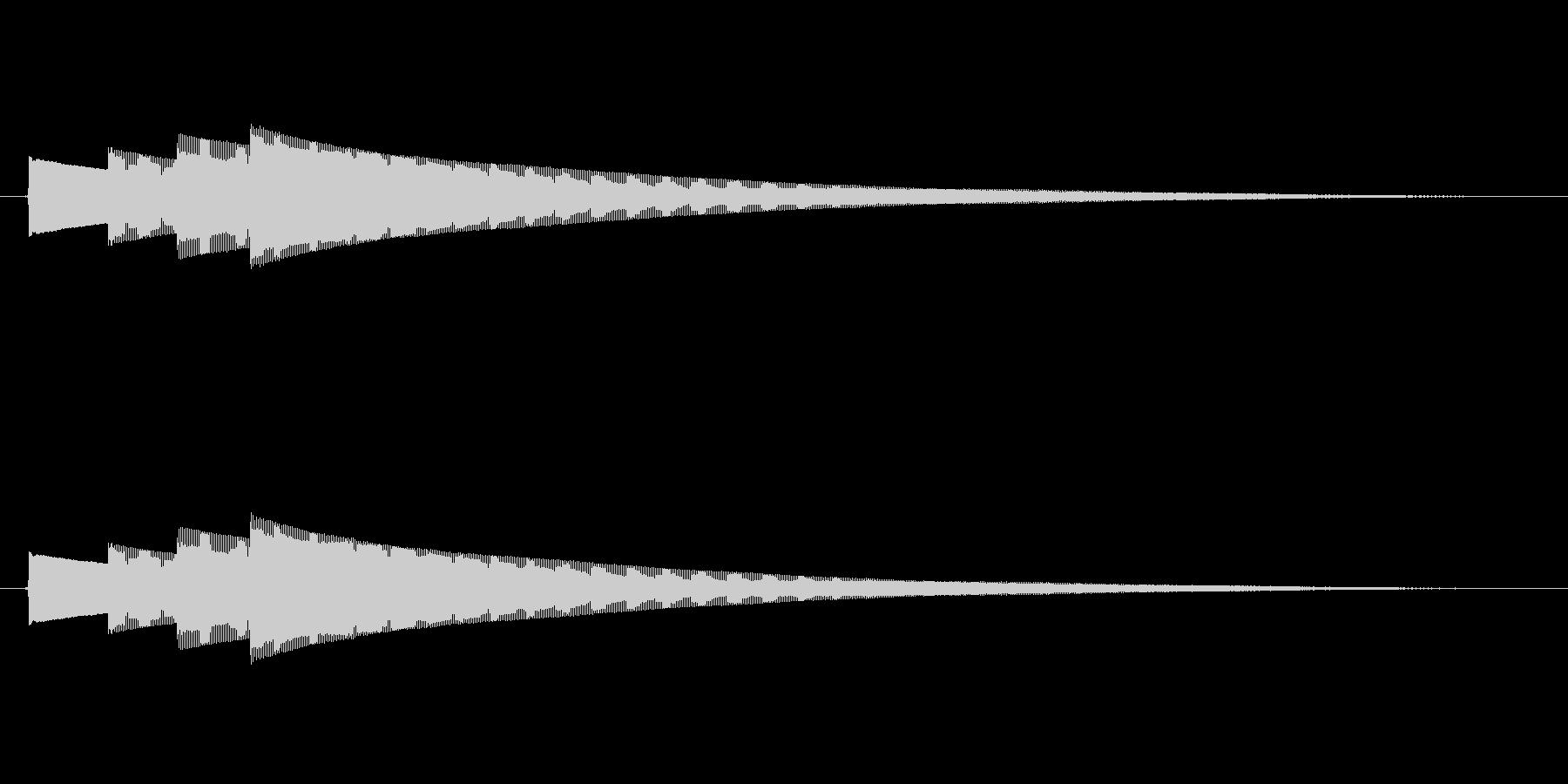 始めピンポンパンポン (ゆっくり)の未再生の波形