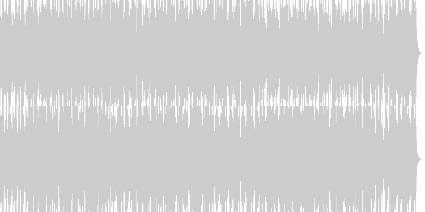 ジャズっぽい暗めのBGMの未再生の波形
