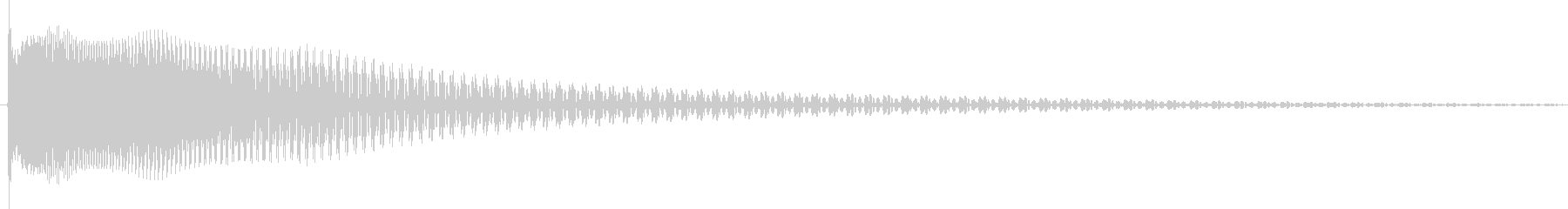 Tune (sound that runs from the spot)'s unreproduced waveform