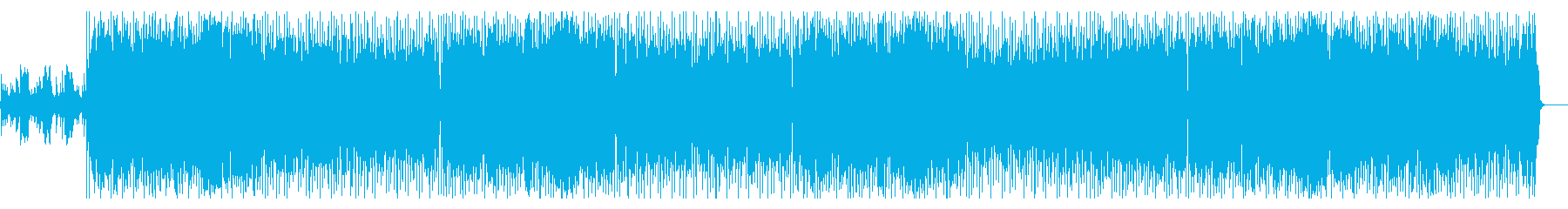 80'S風ダンスポップスの再生済みの波形