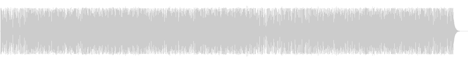 Bright and light techno BGM's unreproduced waveform
