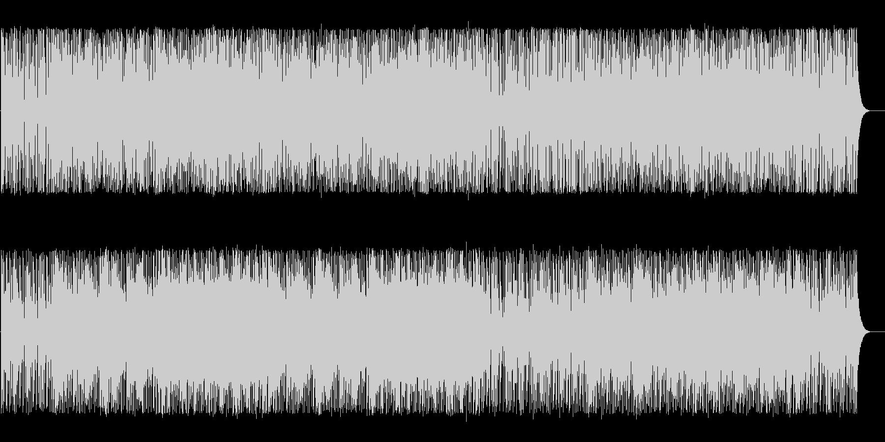 明るく軽やかななテクノBGMの未再生の波形