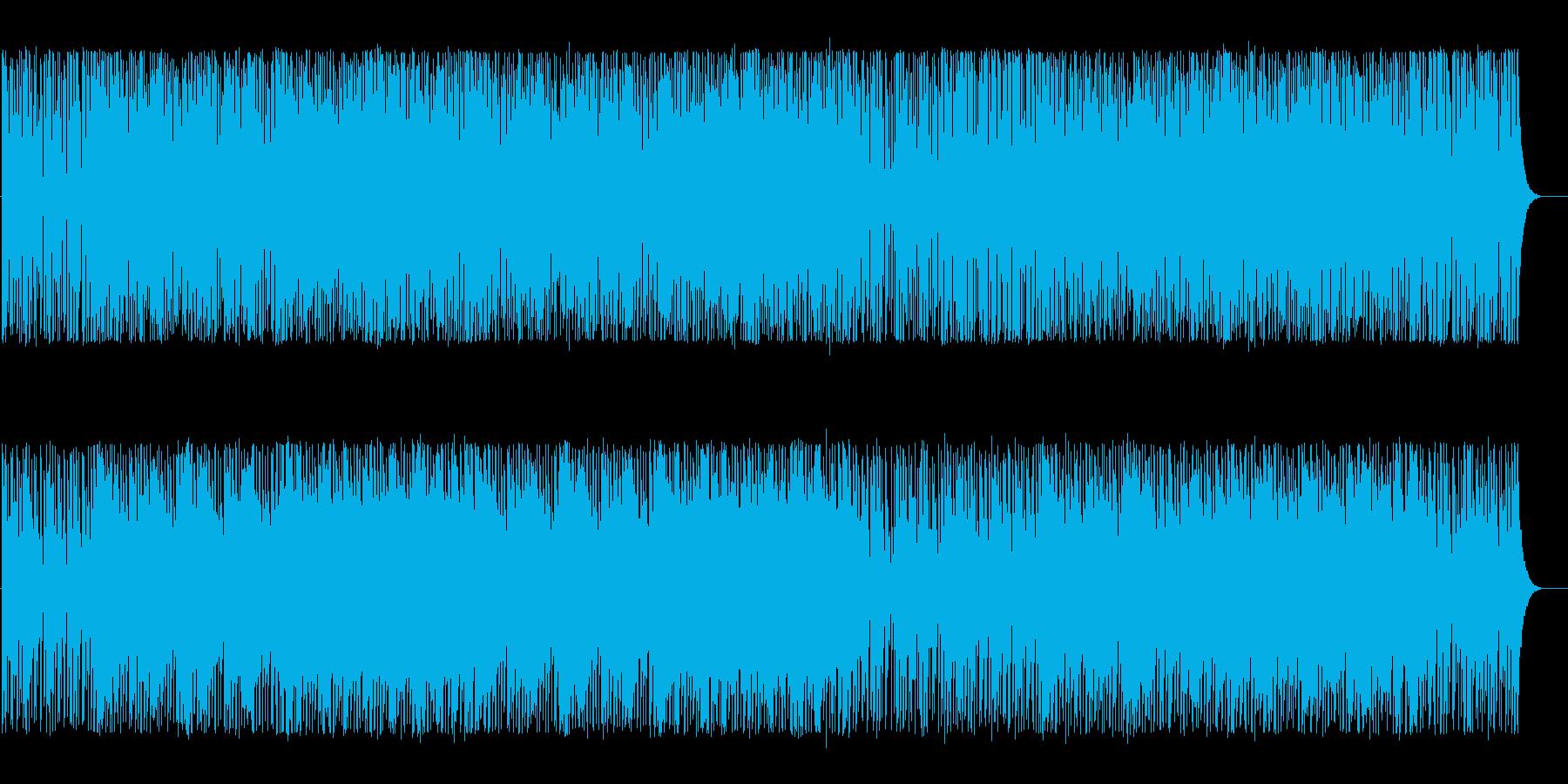 明るく軽やかななテクノBGMの再生済みの波形